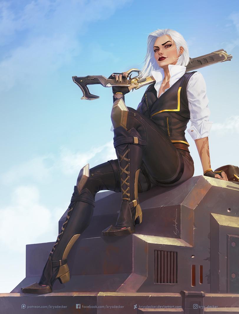 Пятничный арт на Эш из Overwatch — картинки с дерзкой красоткой