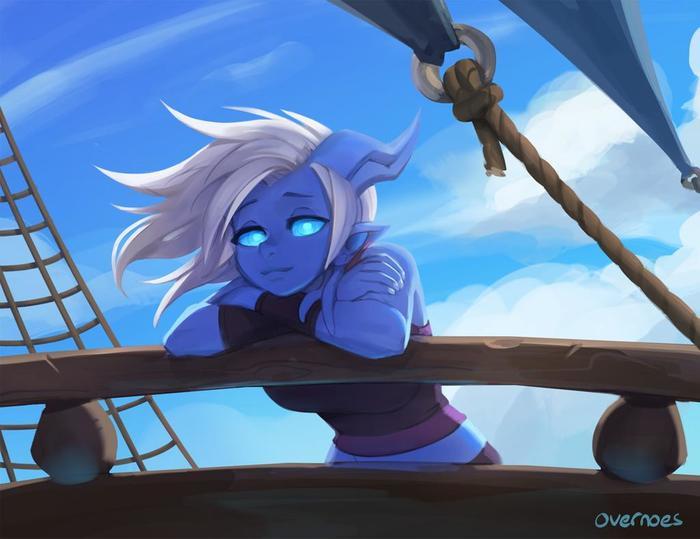 Пятничный арт на дренеек из World of Warcraft