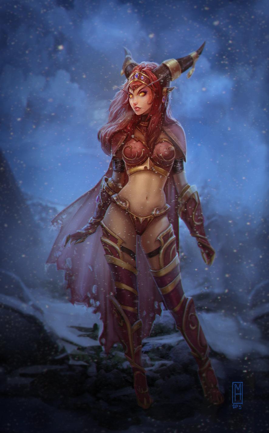Горячий пятничный арт на Алекстразу из World of Warcraft