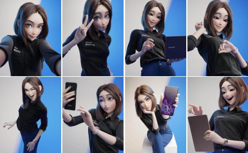 Пятничный арт на ассистентку Сэм — Samsung Sam, Samsung Girl, анимешная помощница