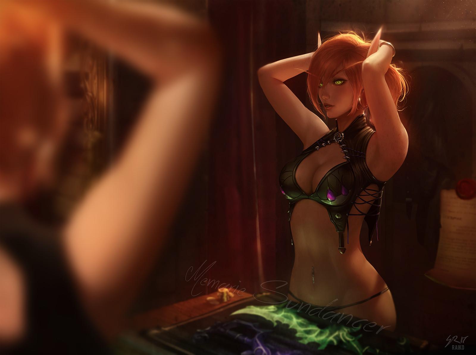Пятничный арт на эльфов — World of Warcraft, Divinity: Original Sin, The Elder Scrolls