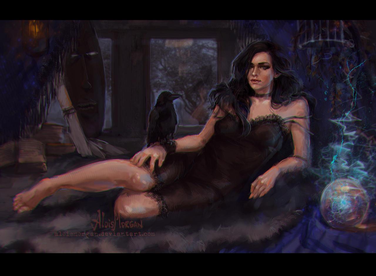 Пятничный арт на Йеннифэр из Ведьмака — картинки с девушками