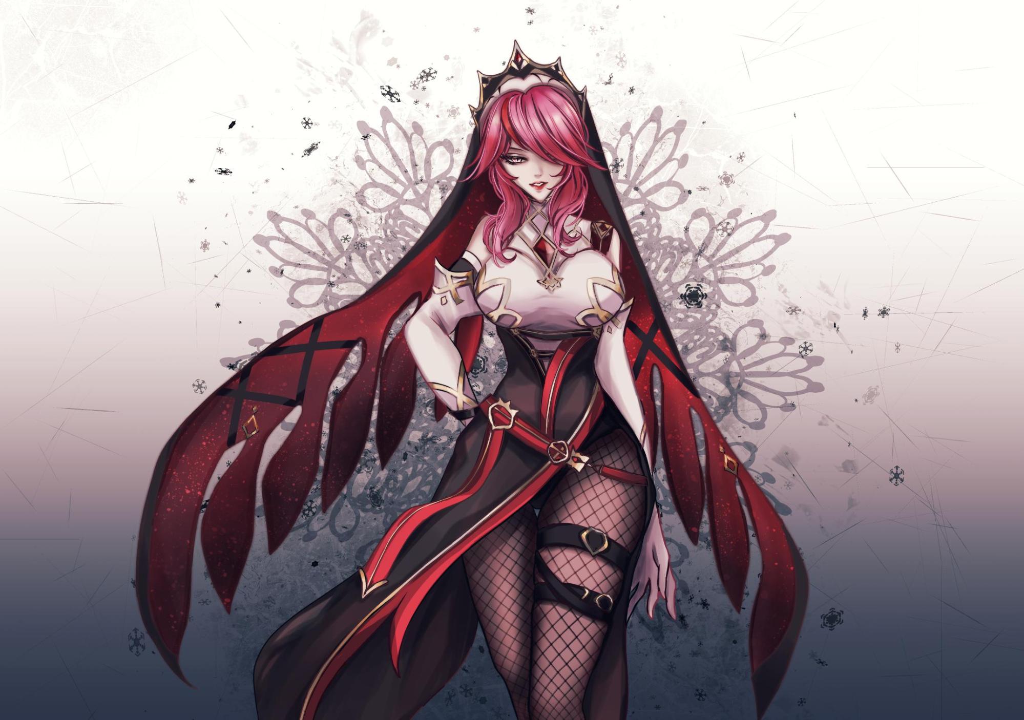 Подборка лучших артов на Розарию — нового персонажа в Genshin Impact.