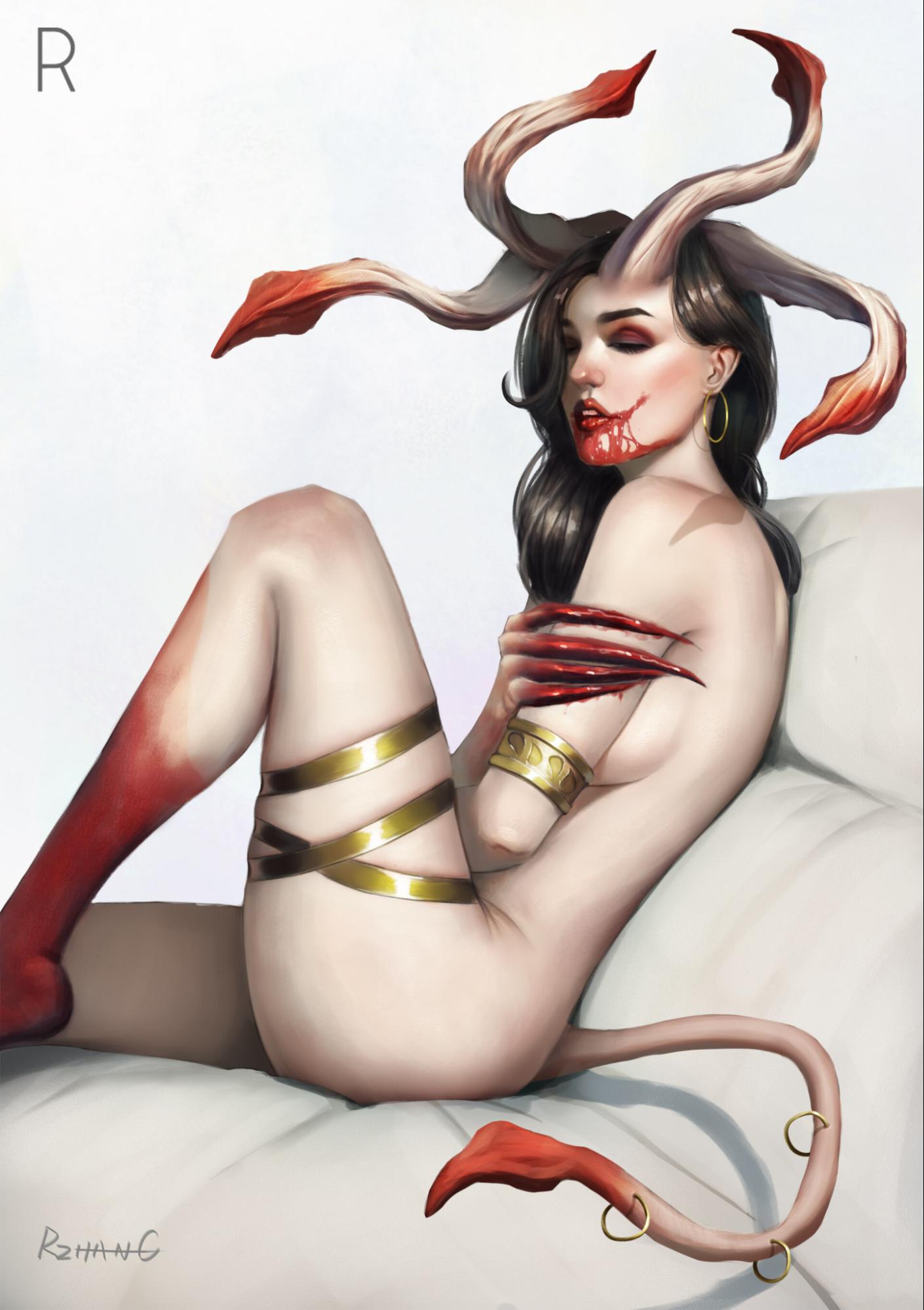 Пятничный арт на суккубов — картинки с девушками Меру +18