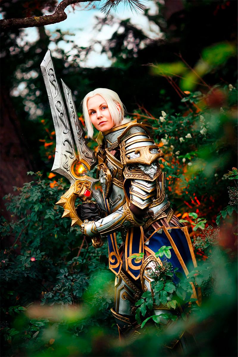 Модель cyfediacosplay в образе Андуина Ринна из World of Warcraft. Фотограф Sosayweal
