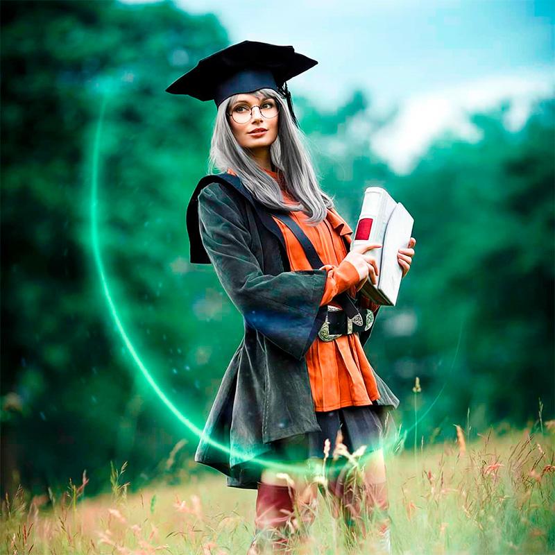 Модель Ayaka Lopez в образе Scholar из Final Fantasy XIV. Фотограф Sosayweal