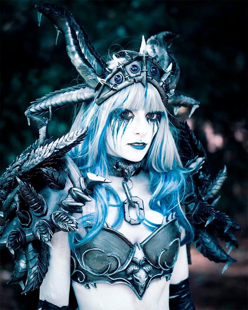 Модель Hasenmaedchen в образе Синдрагосы из World of Warcraft. Фотограф Andrе Köthur.