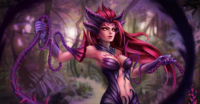 Пятничный арт на Зайру из League of Legends — красивые рисунки с девушками