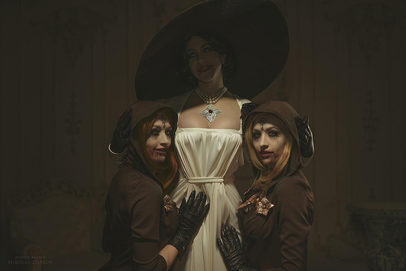 Косплей на ведьм из Resident Evil: Village — дочери Леди Димитреску