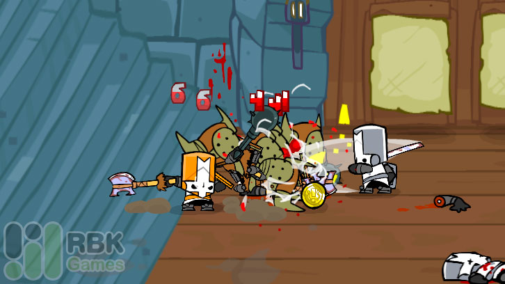кровавая бойня в Castle Crushers