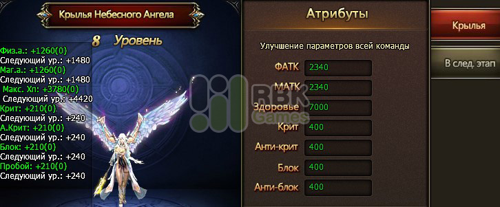 Крылья ангела в Dragon Knight
